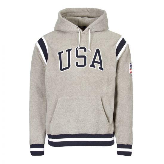 Ralph Lauren Fleece Hoodie 710719883 001 Grey