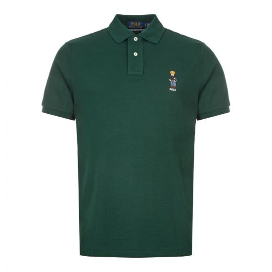 Ralph Lauren Polo Shirt Bear Logo 710766806 003 Dark Green