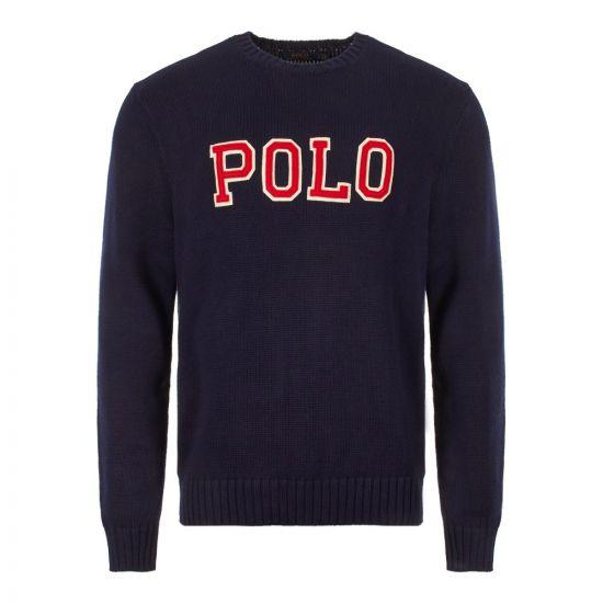 Ralph Lauren Polo Logo Jumper 710730217 001 Navy