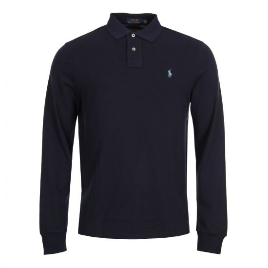 ralph lauren long sleeve polo navy