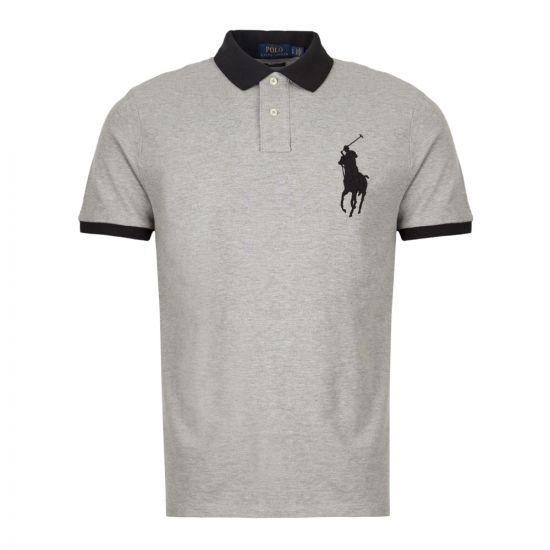 Ralph Lauren Polo Shirt 710752866 004 Grey / Black