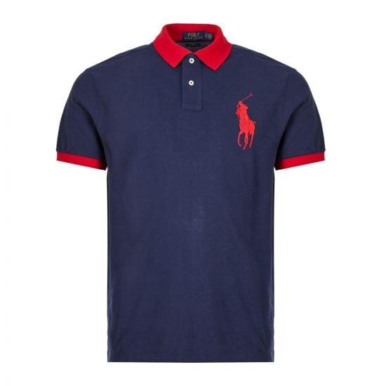 Ralph Lauren Polo Shirt | 710752866 001 Navy / Red