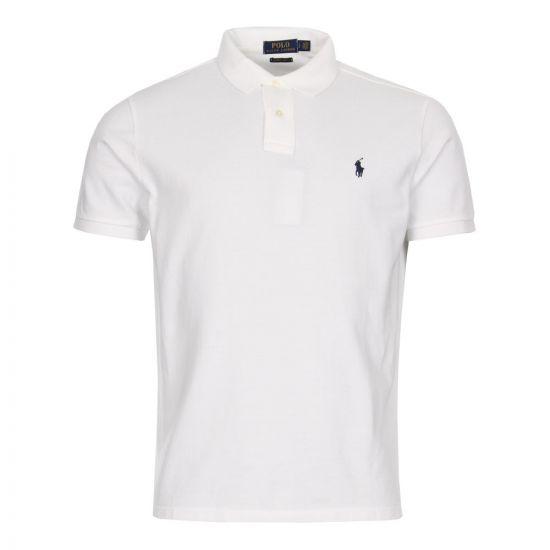 Ralph Lauren Custom Slimfit Polo Shirt 710666998-002 White
