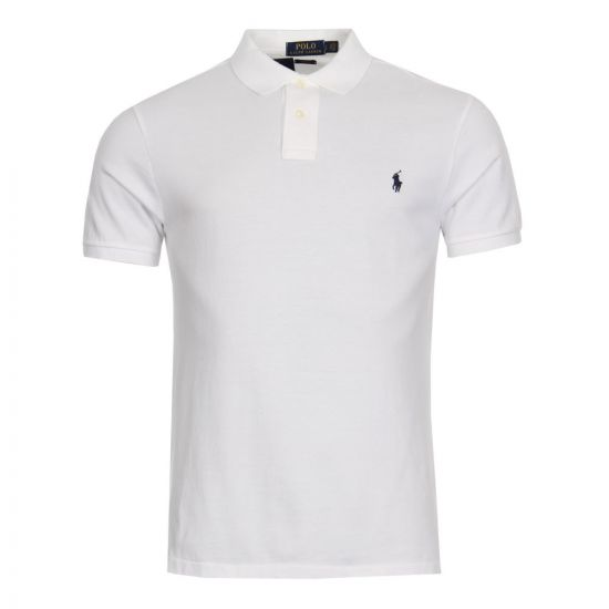 ralph lauren slim fit polo white