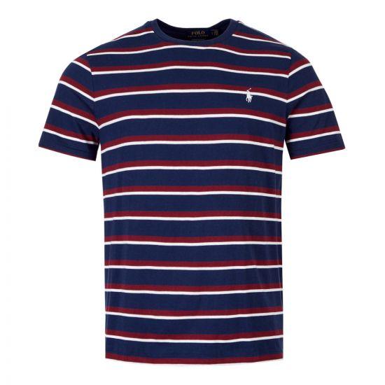 ralph lauren t-shirt 710740871 004 navy / red stripe