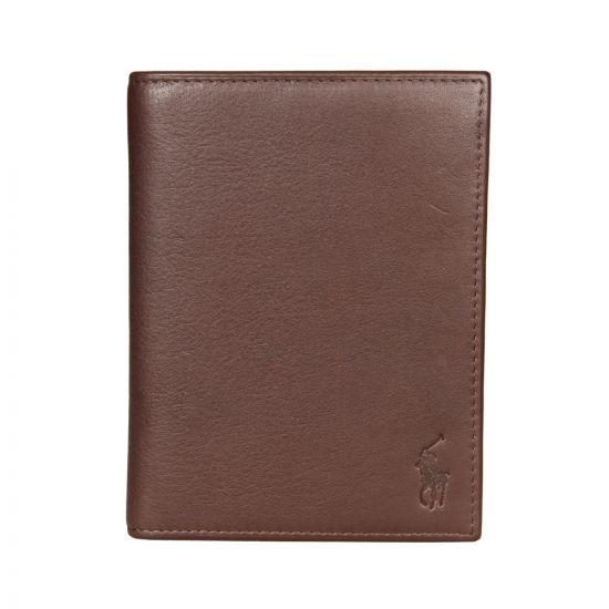 Ralph Lauren Passport Holder Brown