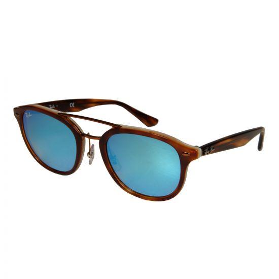 Ray Ban Sunglasses | RB2183 1128B7 Brown / Blue Mirrored