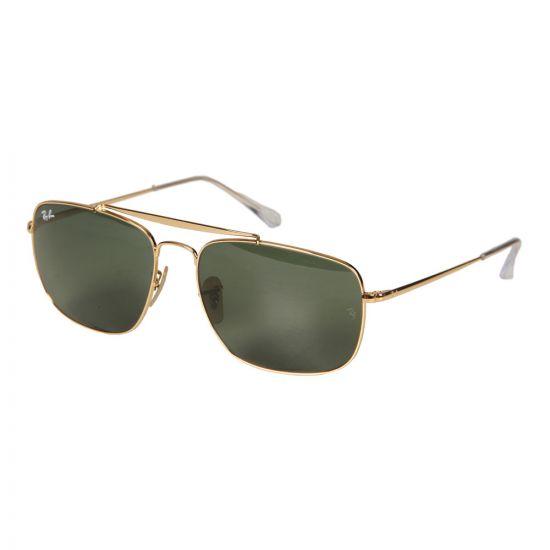Ray Ban The Colonel Sunglasses RB3560 001 61 Gold / Green