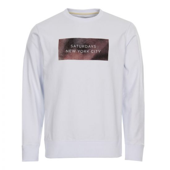 Saturdays NYC Sweatshirt Bowery Rocco M51728BW01-S9900 White