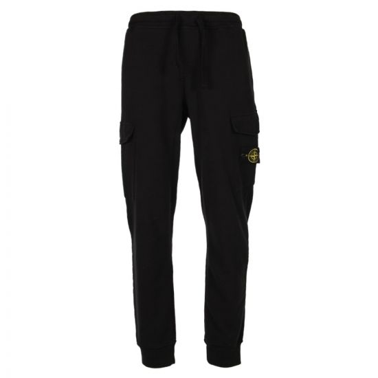 Stone Island, Cargo Sweat Pants Black, 371561120 V0029