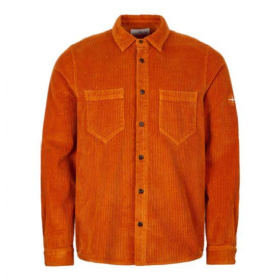 Stone Island Corduroy Shirt 711511209 V0032 Orange