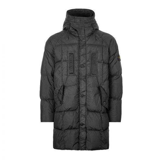 Stone Island Crinkle Reps NY Down Jacket 711570123|V0029 In Black At Aphrodite Clothing