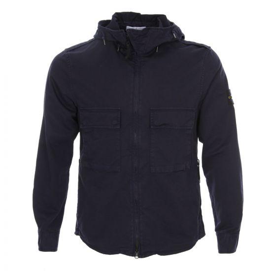 Hooded Overshirt - Navy
