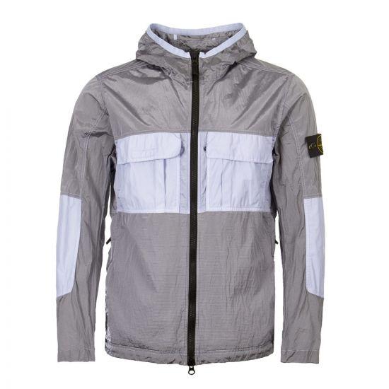 stone island jacket 701543632 V0047 grey / blue