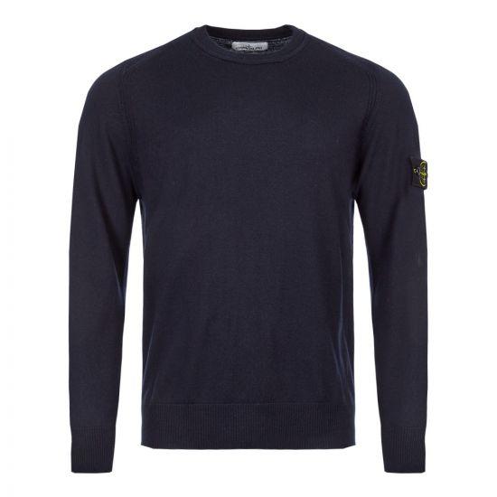 stone island knitted sweatshirt 7115524C4 V0020 navy