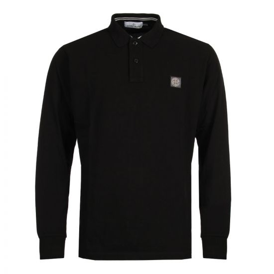 Stone Island Long Sleeve Polo Black 10152CC15