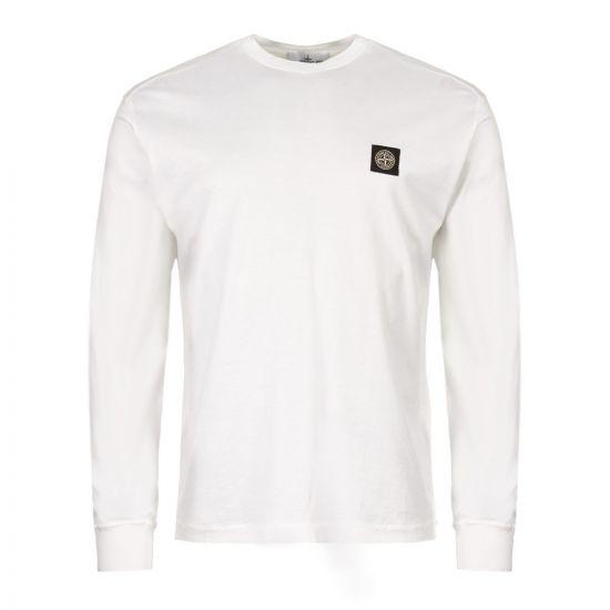 Stone Island Long Sleeve T-Shirt 7015 22713 V0001 in White