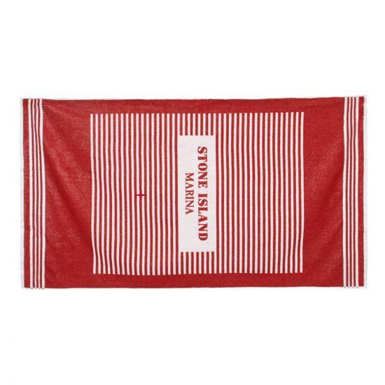 stone island marina beach towel 7015930XP V0015 red / white