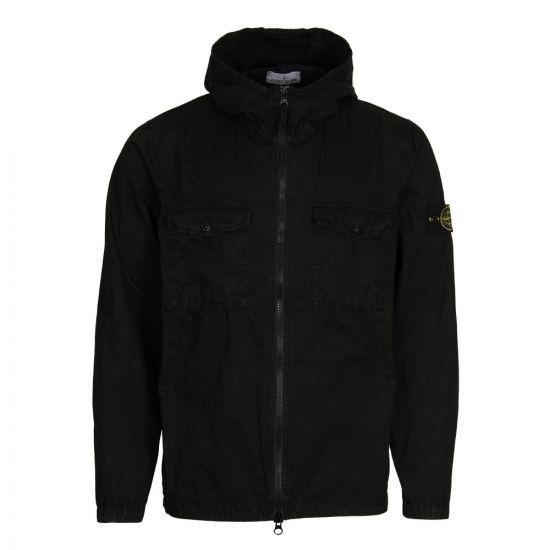 Stone Island Hooded Overshirt 6915111WN V0129 Black