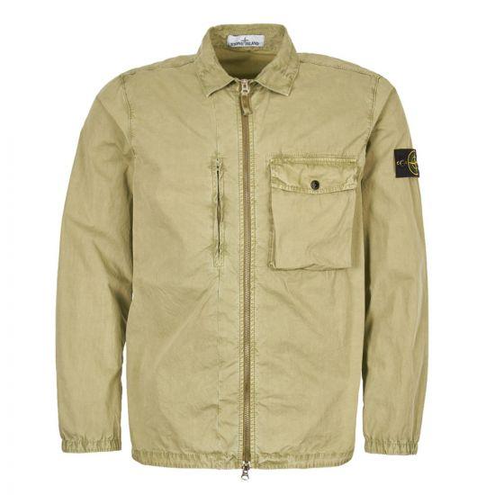 Stone Island Zip Overshirt 7015121WN V0155 Green