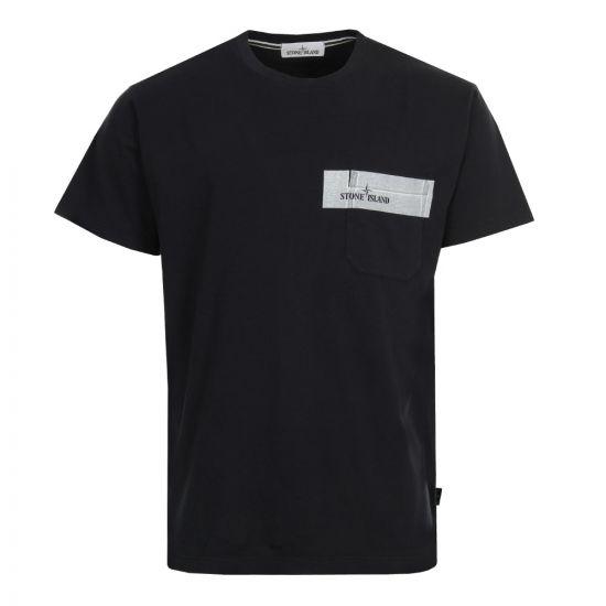 Stone Island T Shirt Pocket 681524794 V0020 Navy