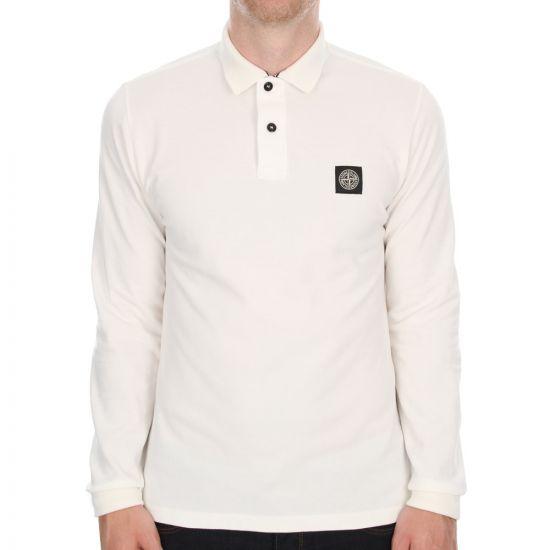 Long Sleeve Polo - Off White