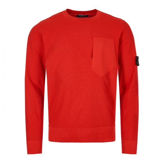 stone island shadow project knitted sweatshirt 7119507A2 V0010 red