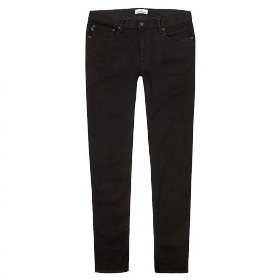 stone island black jeans 6515 j2zq1 wash skinny