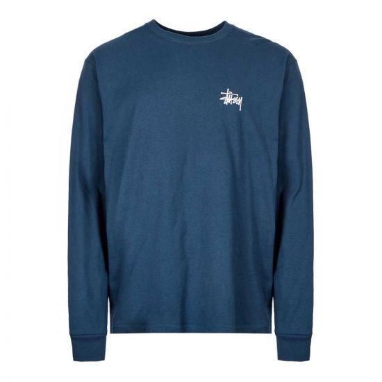 stussy long sleeve t-shirt 1994416 NAVY navy
