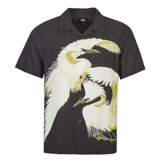 Stussy Short Sleeve Shirt | 1110054 Black / Green