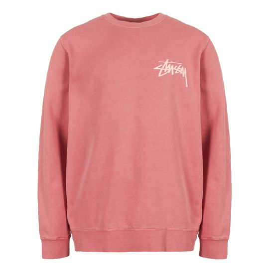Stussy Sweatshirt 1914326 RASO Raspberry