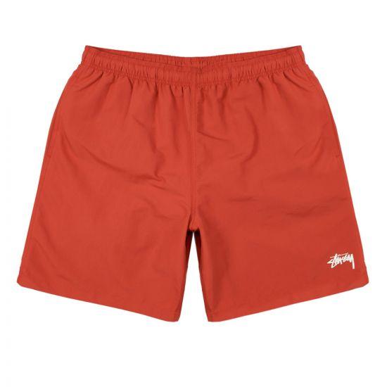 Stussy Swim Shorts   113108 RED