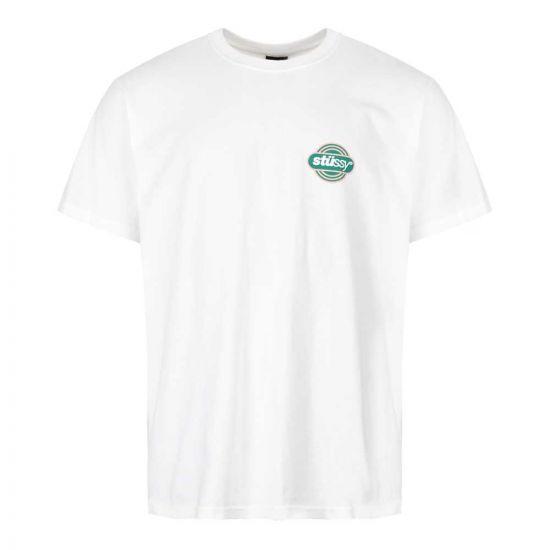 stussy t-shirt circuit 1904420 WHITE white