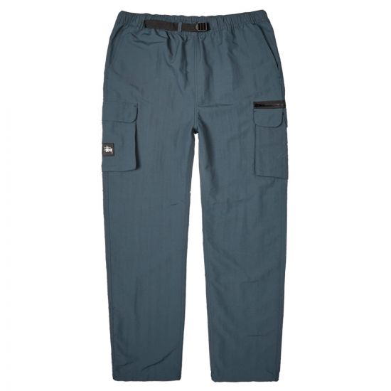 stussy cargo utility trousers 116395 SLATE slate blue