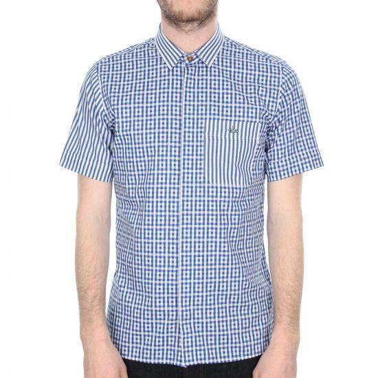 Vivienne Westwood Shirt Blue Check Pac Man Short Sleeve