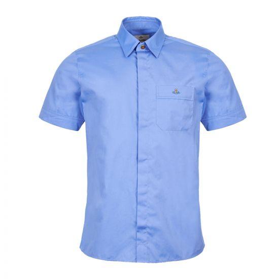 Vivienne Westwood Short Sleeve Shirt | S25DL0445 S47899 491 Blue