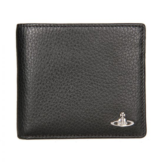 Vivienne Westwood Grained Leather Coin Holder Wallet in Black