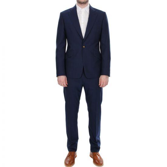 Vivienne Westwood Suit in Navy Blue New Wool James S25FT0102