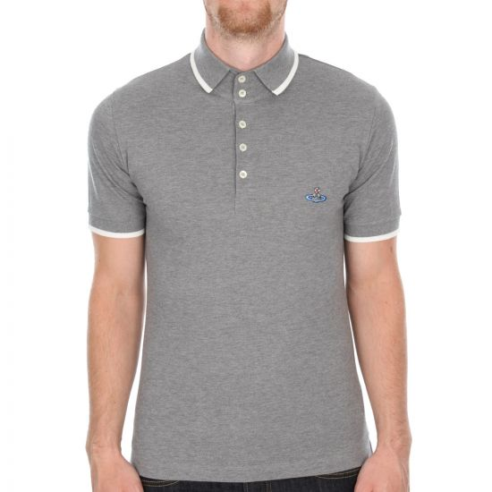 Westwood Tipped Polo - Grey