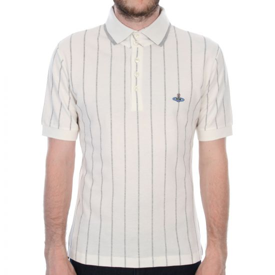 Vivienne Westwood Polo Striped in White