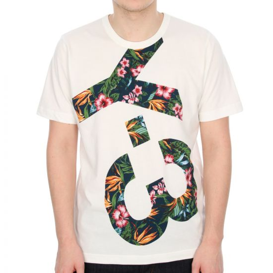 Y3 Logo Tee - Cream Floral