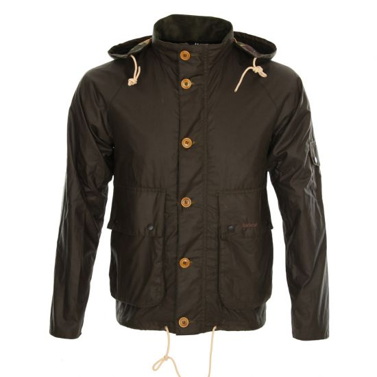 Barbour Wax Jacket Olive Overhand