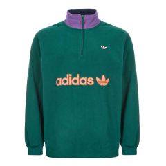 adidas Fleece Half Zip | EI6362 Green / Purple