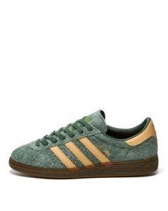 adidas Originals Munchen Trainers | FX5635 Green / Beige