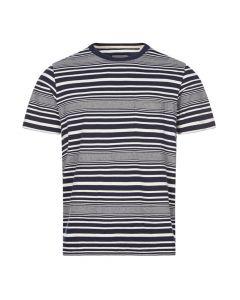 Albam T-Shirt Striped, ALB79ALM611922121 002 Navy White, Aphrodite 1994