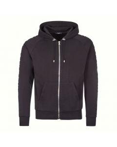 balmain hoodie embossed UH13122I339 0PA black