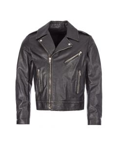 balmain leather jacket UH18137Z307 0PA black