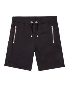 balmain sweat shorts embossed UH15634I339 0PA black