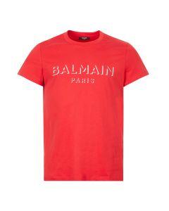 balmain t-shirt 3d UH11601I364 3AA red