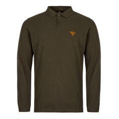 Barbour Beacon Long Sleeve Polo Shirt MML0972-GN94 Green